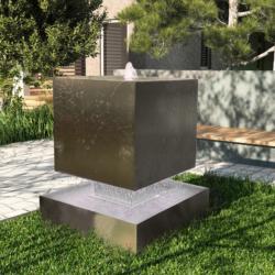 Фонтан-куб из нержавеющей стали